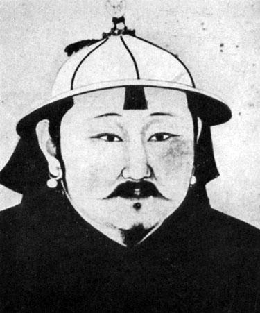 Портрет Оязийт-хана. Живопись на шелке. XIII в. Местонахождение неизвестно