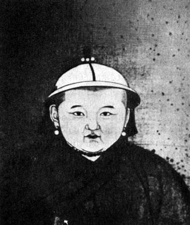 Портрет Ринчинбал-хана. Живопись на шелке. XIII в. Местонахождение неизвестно