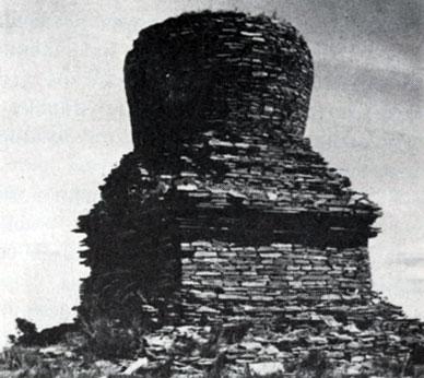 Кладка субургана. Камень. XVI в. Булганский аймак