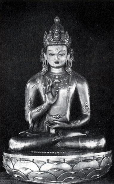 Дзанабадзар. Амогасидха. Позолоченная бронза. XVII в. МНИ