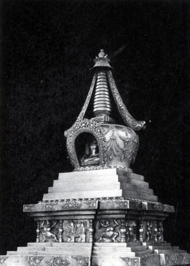 Дзанабадзар. Боди-субурган. Позолоченная бронза. XVII в. МИИ