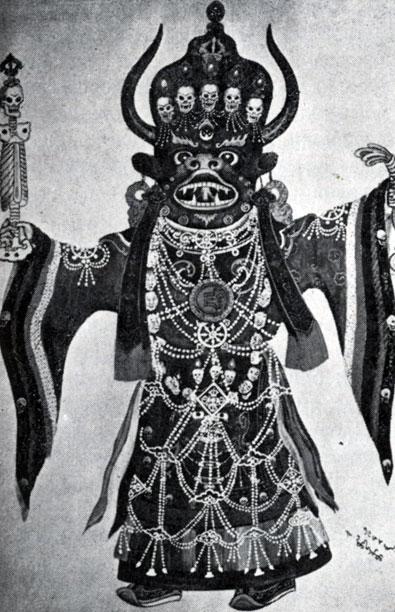 Яма — персонаж религиозной церемонии  цам.  Начало XX в. Храм-музей