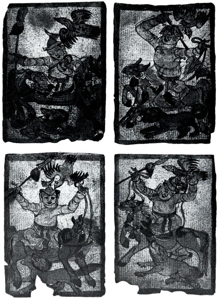 Шаманские боги (духи). Бумага, минеральные краски. Конец XIX в.