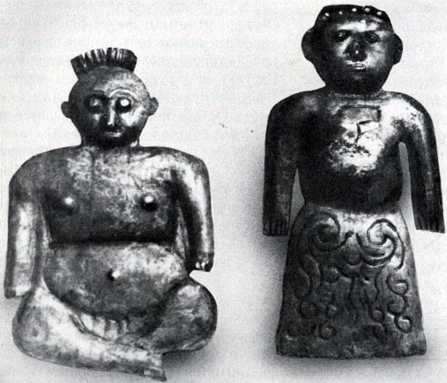 Ритуальные фигурки — онгоны (амулеты). Медь. XVI в. Частная коллекция
