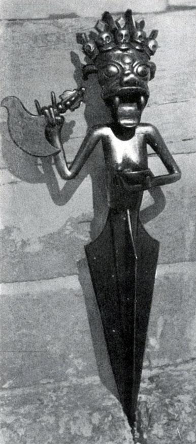 Ритуальный нож — пурбу. XIX в. Архангайский краеведческий музей