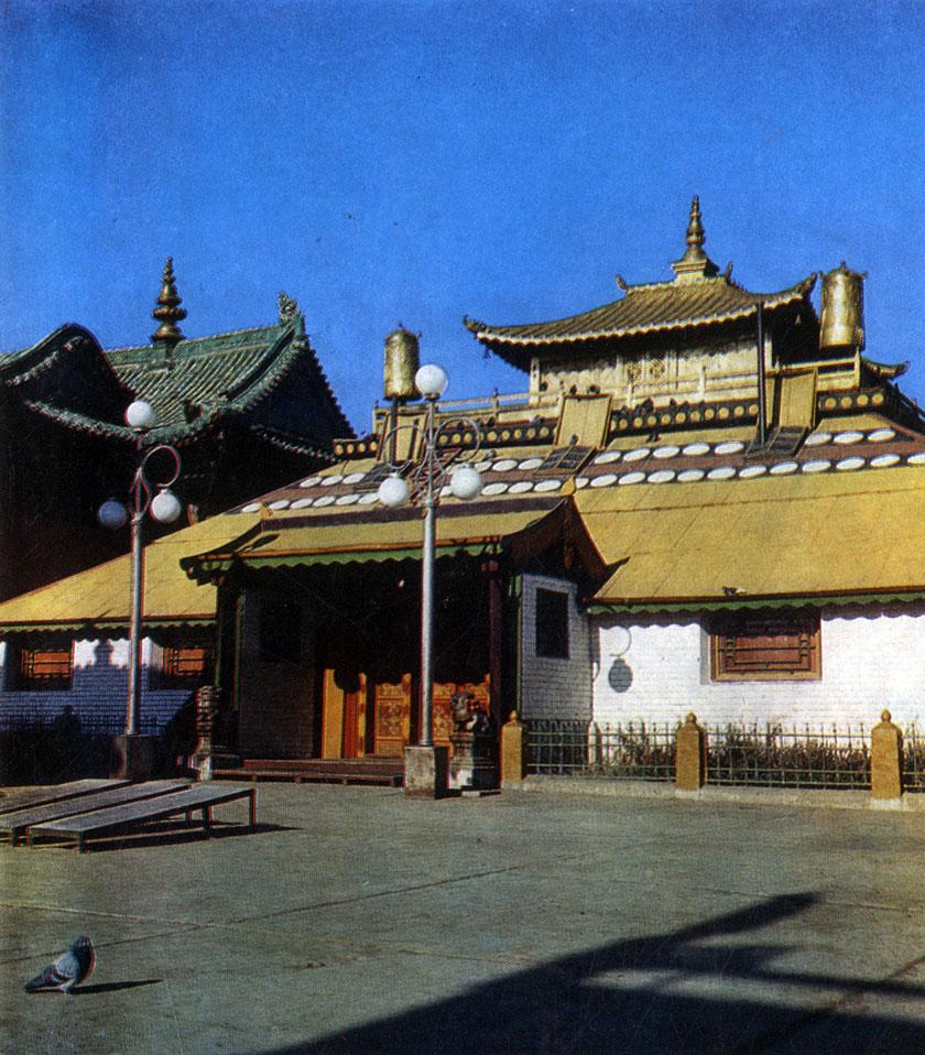 Храм Цокчин монастыря Гандан. Начало XX в. Улан-Батор