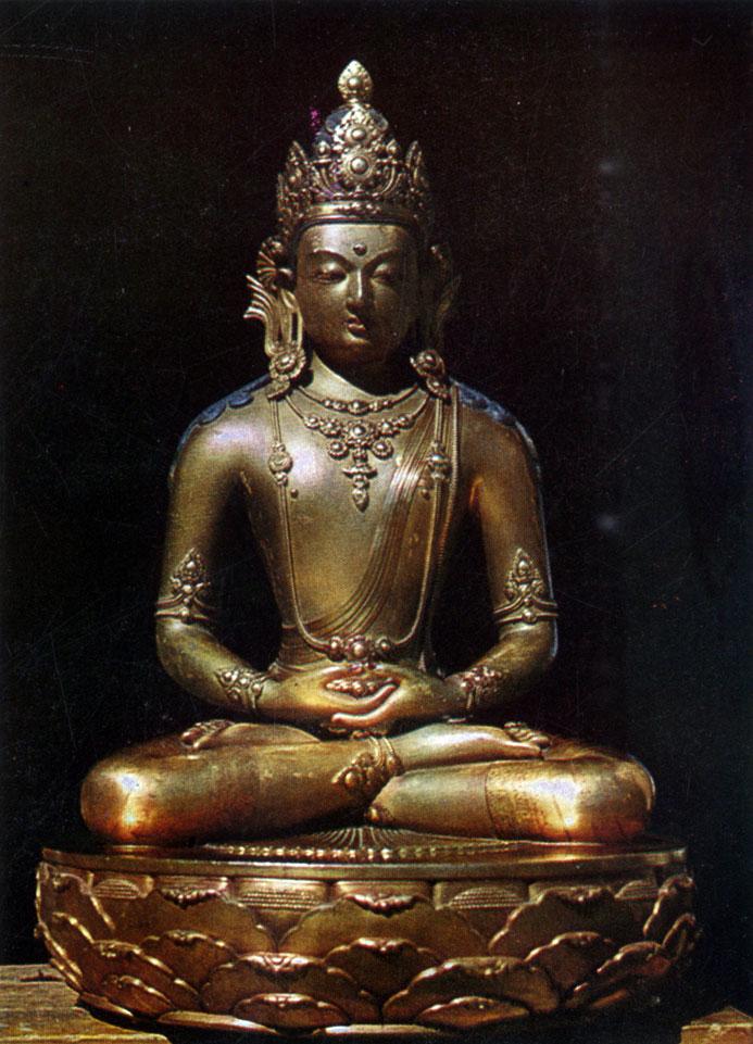 Дзанабадзар. Амитаба. Позолоченная бронза. XVII в. МИИ