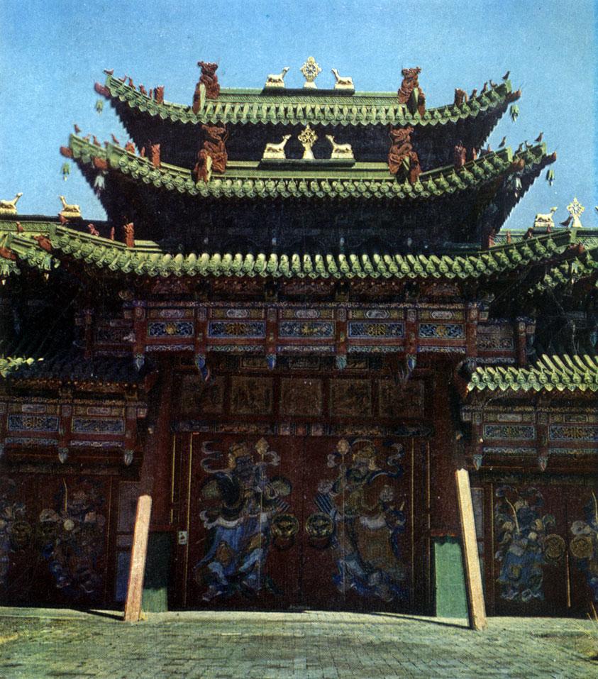 Главные ворота Зеленого дворца. Конец XIX в. Улан-Батор