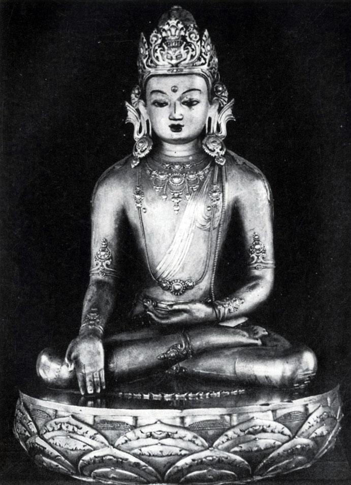 Дзанабадзар. Ратнасамбава. Позолоченная бронза. XVII в. Храм-музей