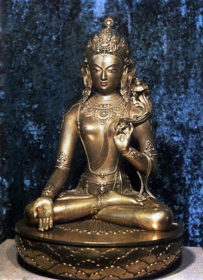 Дзанабадзар. Сита-Тара (Белая Тара). Позолоченная бронза. XVII в. МИИ
