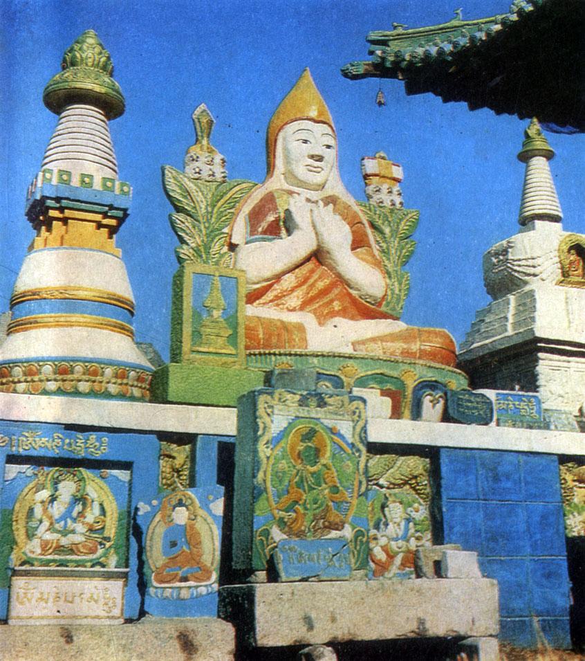 Статуя Дзонхавы в монастыре Гандан. Начало XX в. Улан-Батор