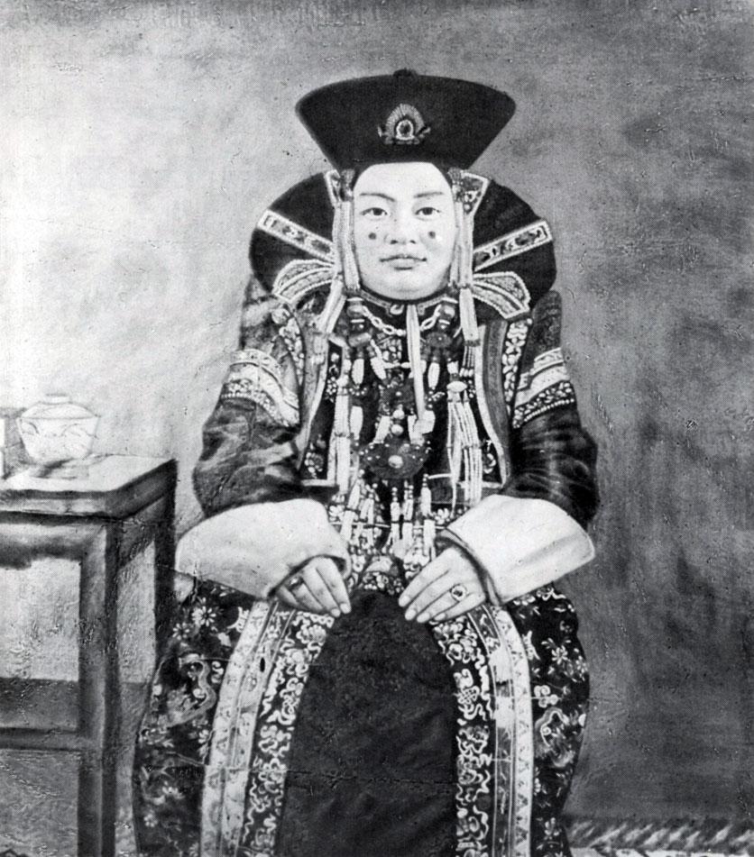 Сономцэрэн. Портрет жены Тушету-хана. Полотно, минеральные краски. Начало XX в. МИИ