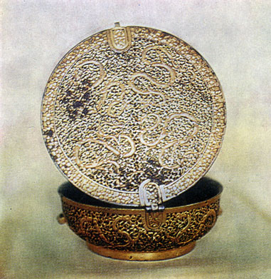 Футляр для чаши. Металл, резьба. XIX в. Частное собрание. Улан-Батор