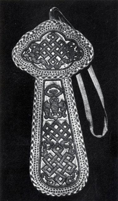 Кисет для табака. Шелк, вышивка. XIX в. Частное собрание. Улан-Батор