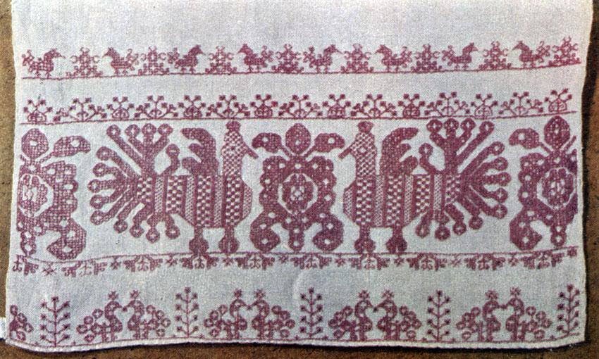 Рисунки для олонецкой вышивке