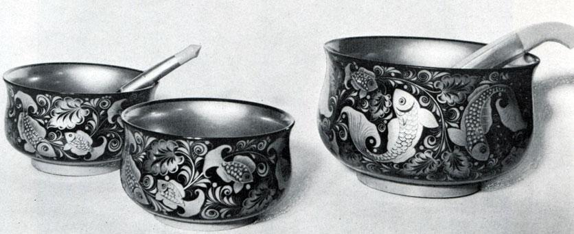 Е. Н. Доспалова, А. П. Савинова, Н. В. Морозова. Набор для ухи. 1970