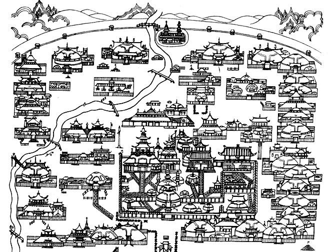 Кочевой город. Монголия
