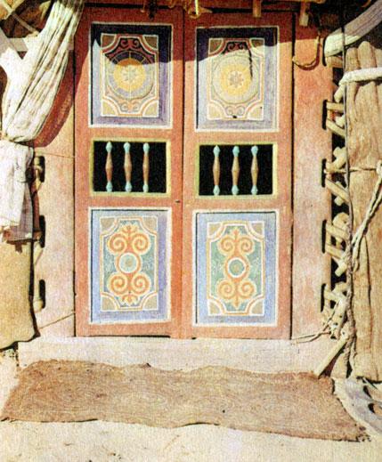 Дверь казахской юрты