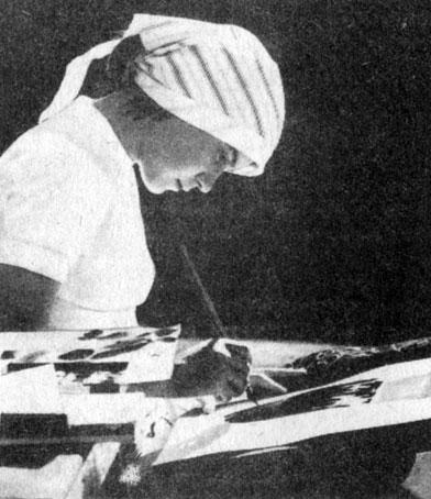 249. Зарисовка образцов хакасского народного искусства