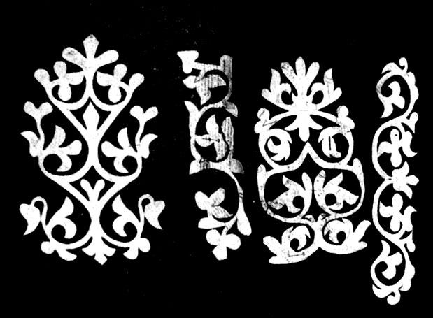 251. Орнамент для вышивки, вырезанный из бумаги