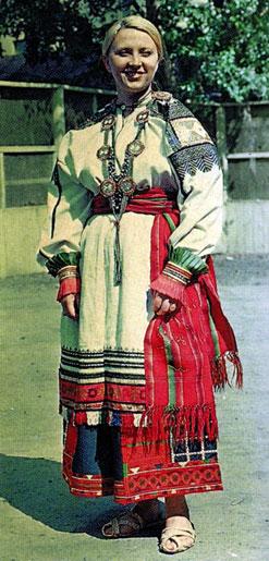 Праздничный женский костюм. XIX век. Воронежская губерния