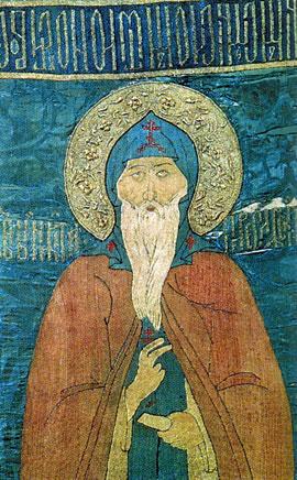 Покров с изображением святого Николы Переяславского. XVI век