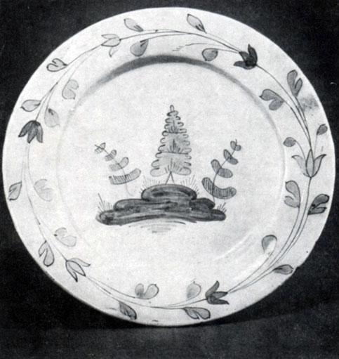 Блюдо. Майолика. Вторая половина XVIII века. Музей народного искусства