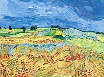 Картина винсента ван гога пшеничные